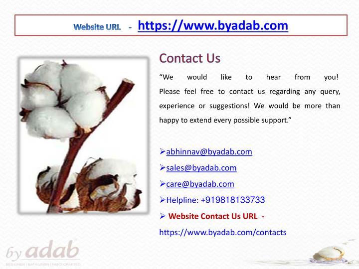 Website URL    -