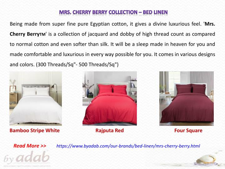 Mrs. Cherry Berry Collection – Bed Linen