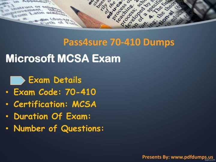 Microsoft MCSA Exam