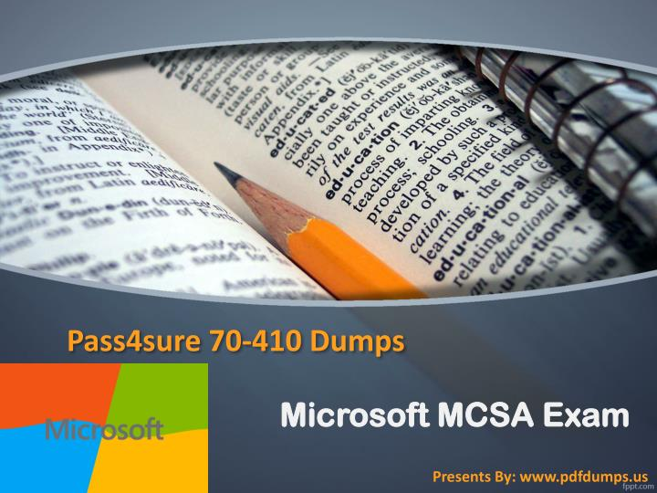 Pass4sure 70 410 dumps