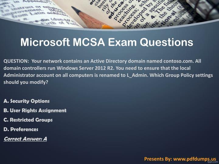 Microsoft MCSA