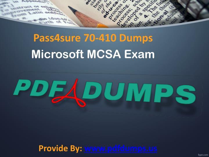Pass4sure 70-410 Dumps