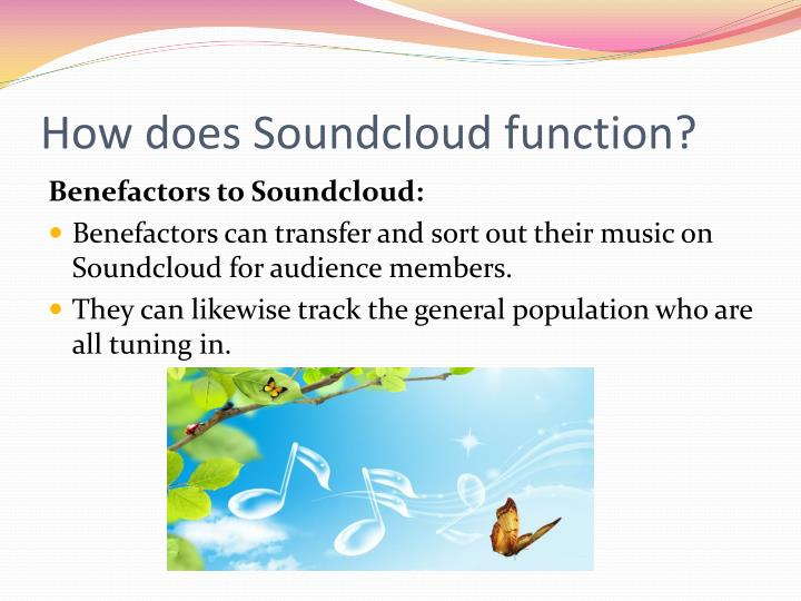 How does s oundcloud function
