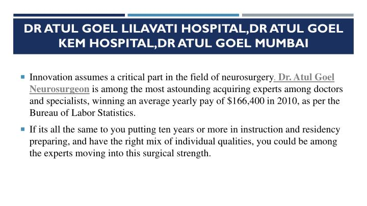 Dr Atul Goel Lilavati