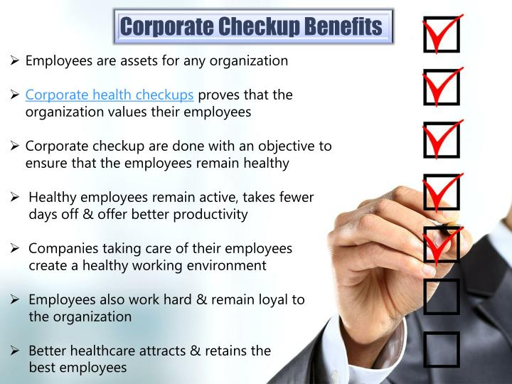 Corporate Checkup Benefits