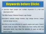 keywords before clicks