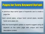 pages for every keyword variant
