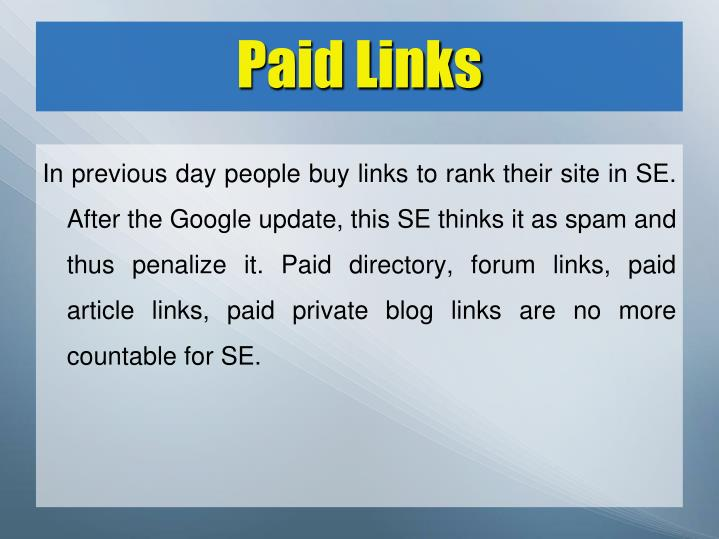 Paid Links