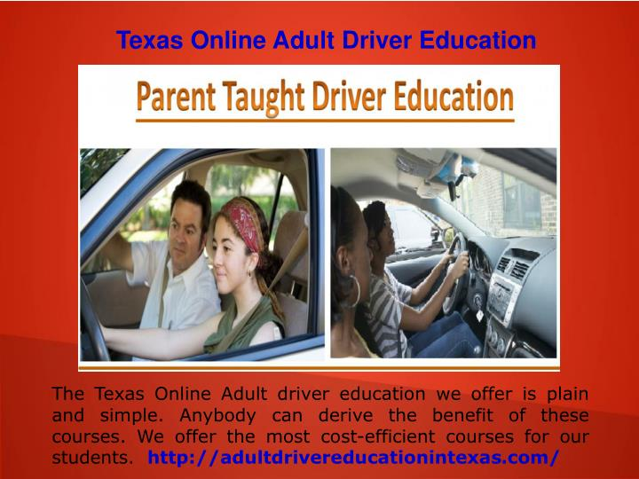 Texas Online Adult Driver Education