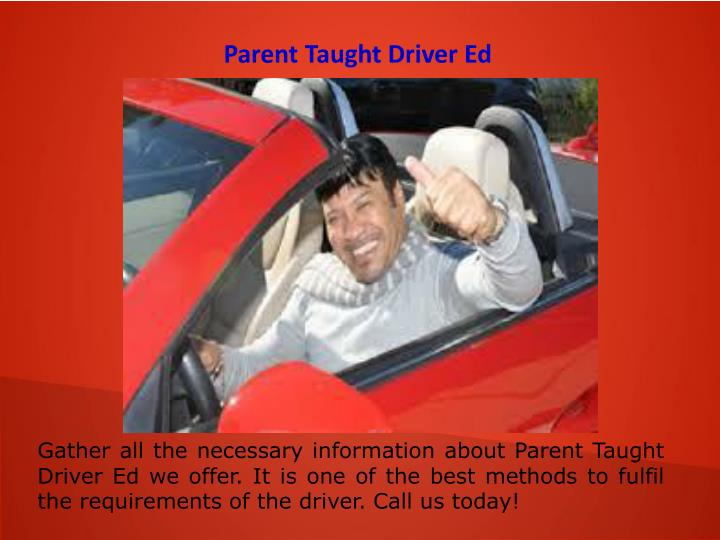 Parent Taught Driver Ed