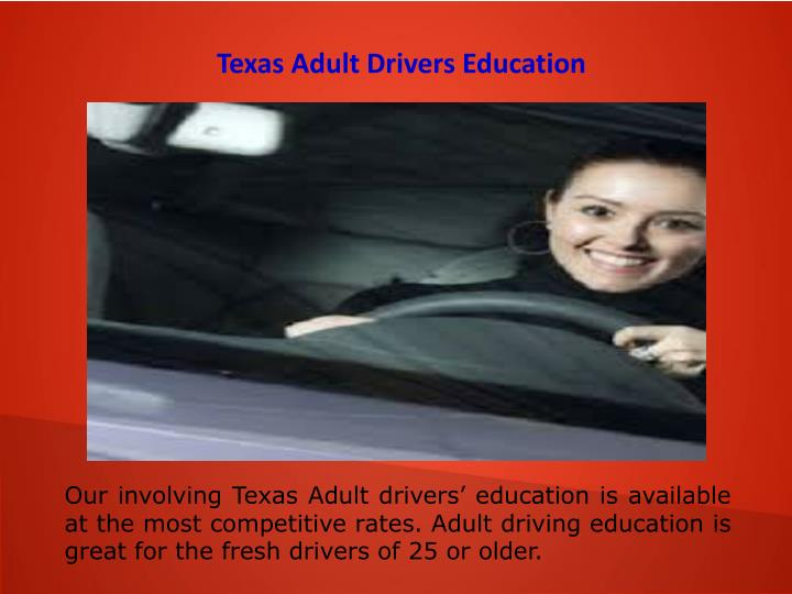 Texas Adult Drivers Education