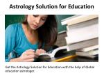 astrology solution for education