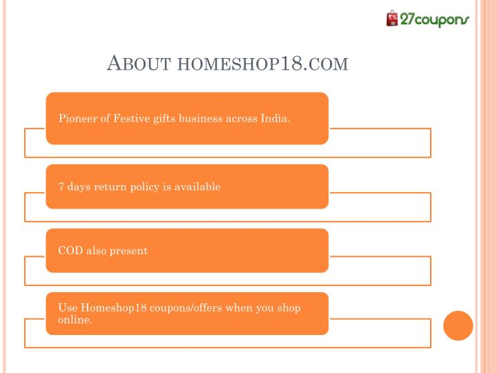 About homeshop18.com