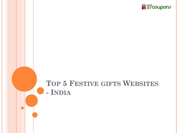 Top 5 Festive gifts Websites - India