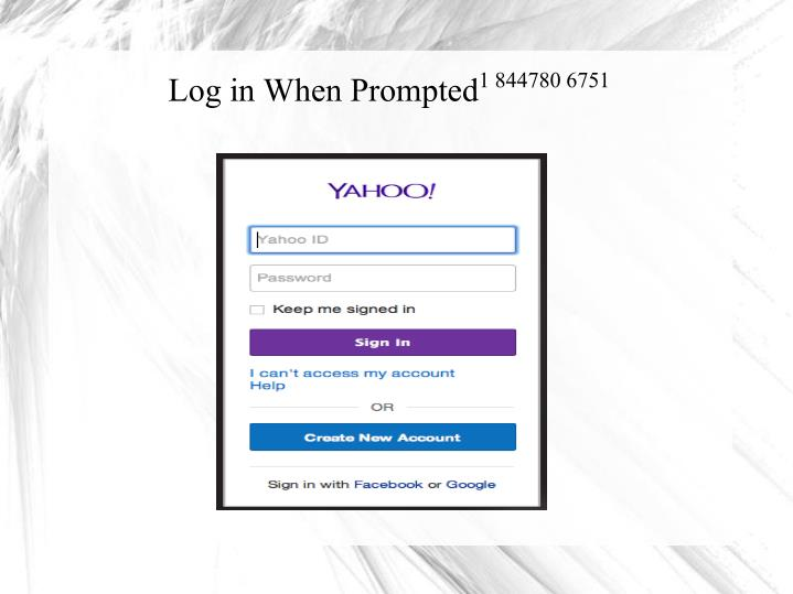 Log in When Prompted
