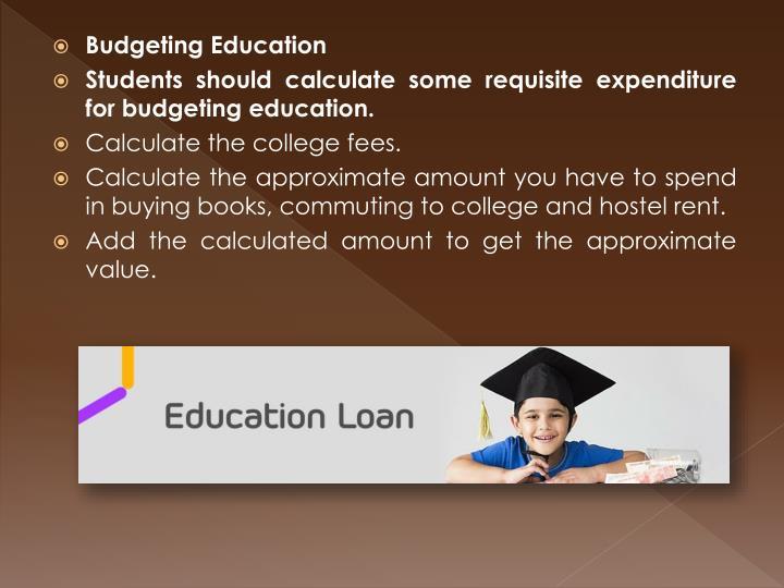 Budgeting Education