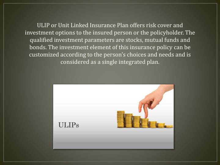 ULIP or Unit Linked Insurance Plan offers risk cover and investment options to the insured person or...