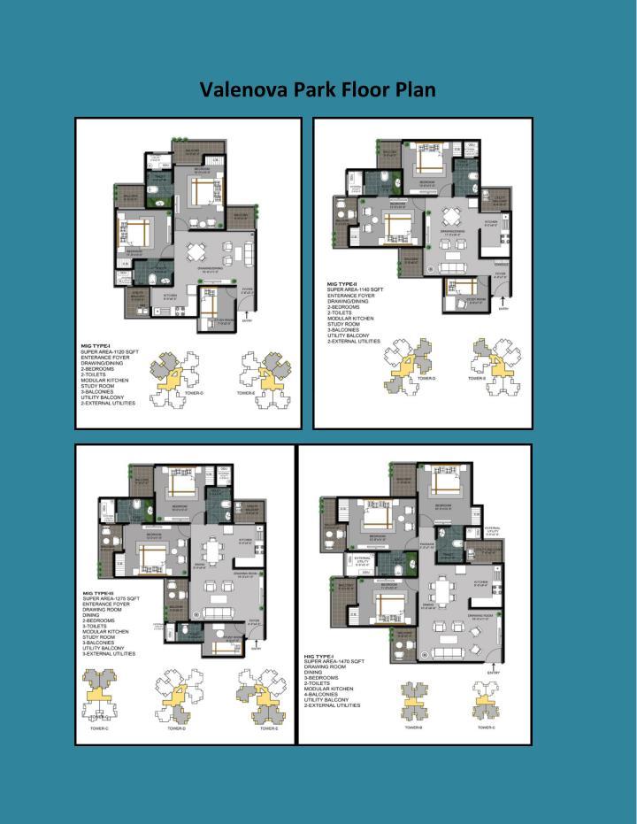 Valenova Park Floor Plan