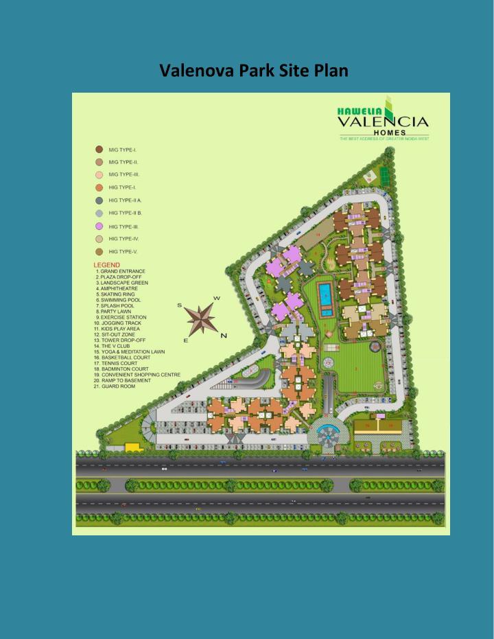 Valenova Park Site Plan