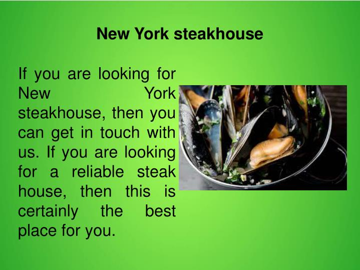 New York steakhouse