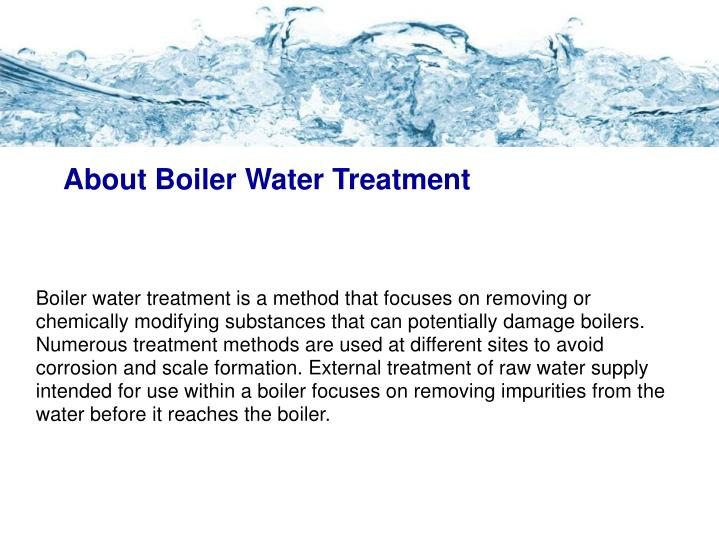 About boiler water treatment