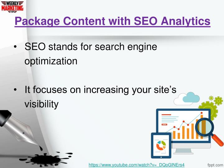 Package Content with SEO Analytics