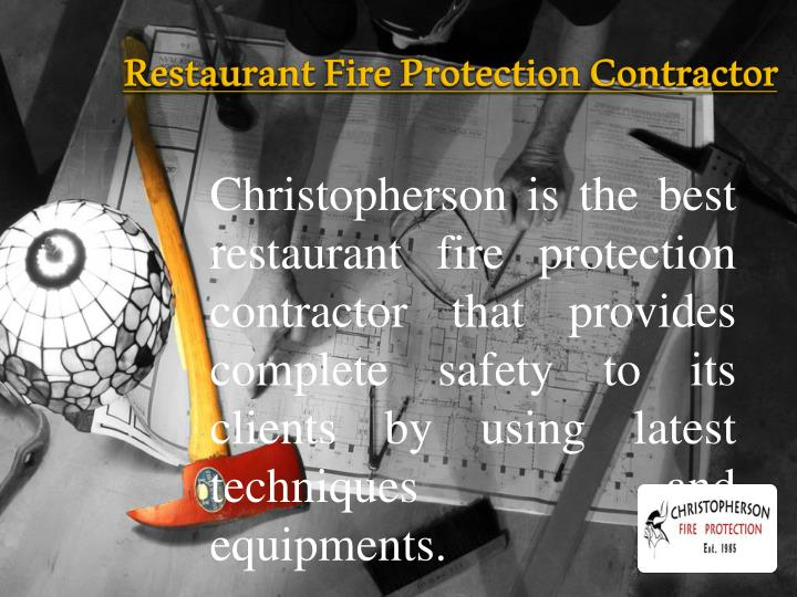 Restaurant fire protection contractor
