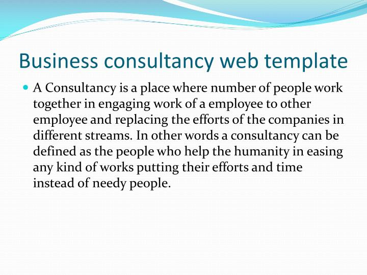 Business consultancy web