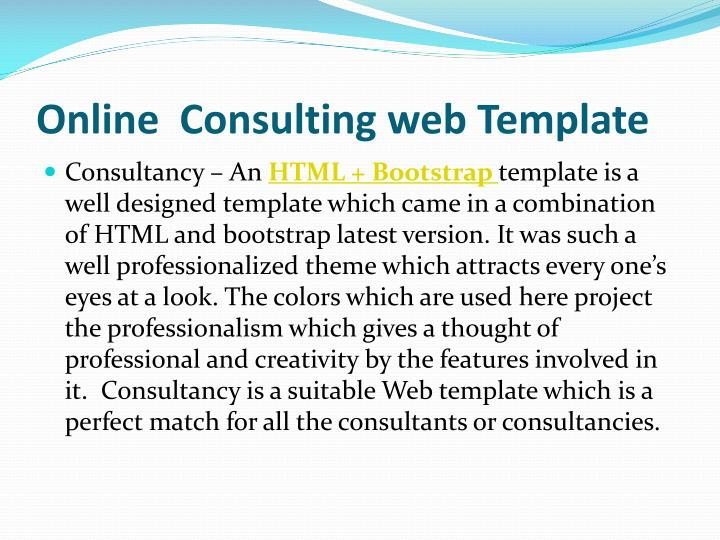 Online  Consulting web Template
