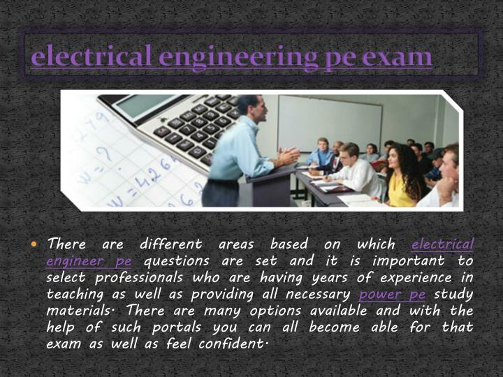electrical engineering pe exam
