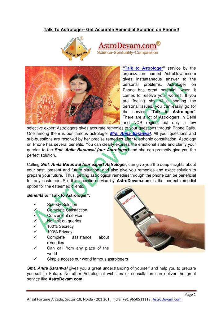 Talk To Astrologer- Get Accurate Remedial Solution on Phone!!