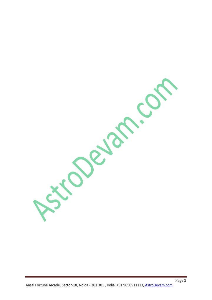 Ansal Fortune Arcade, Sector-18, Noida - 201 301 , India ,+91 9650511113, AstroDevam.com