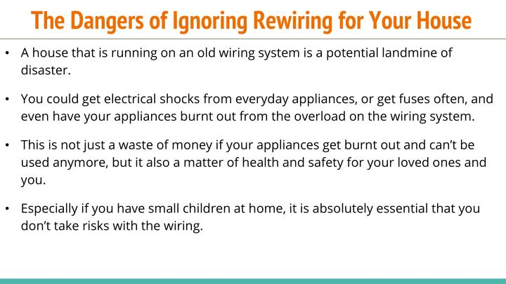 The dangers of ignoring rewiring for your house