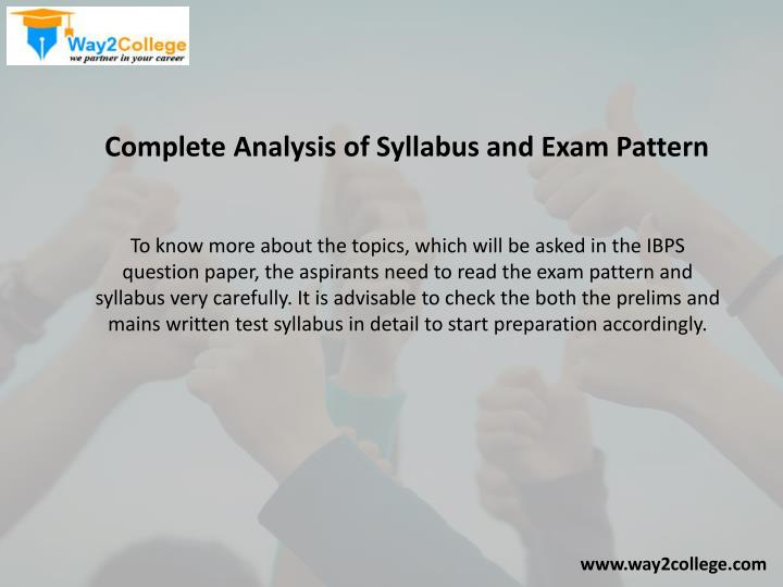 Complete Analysis of Syllabus and Exam Pattern