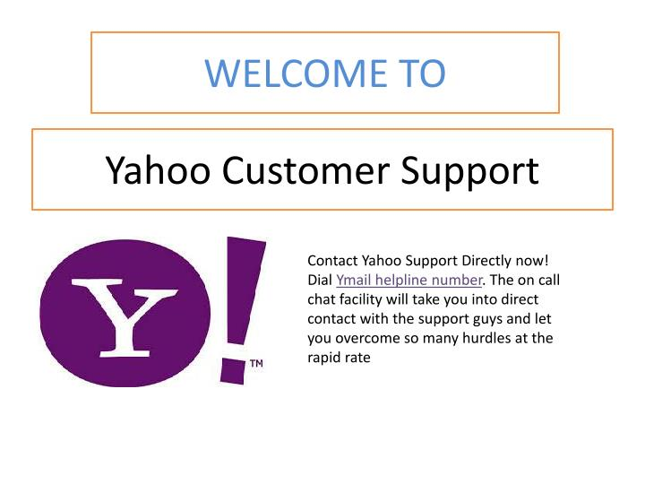 Yahoo customer support