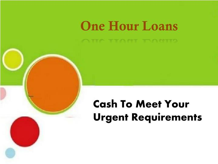 One Hour Loans