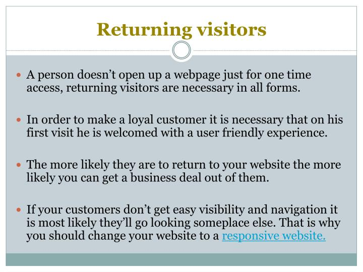 Returning visitors