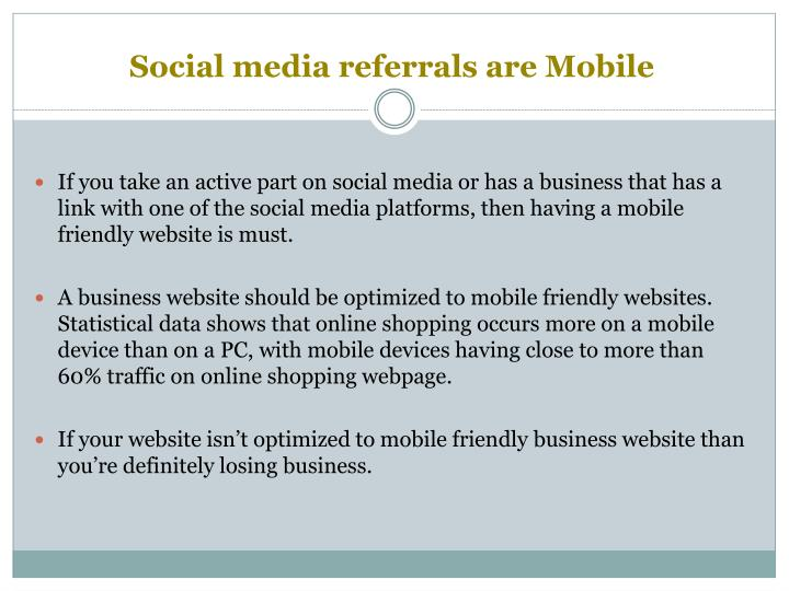 Social media referrals are Mobile