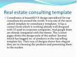 real estate consulting template