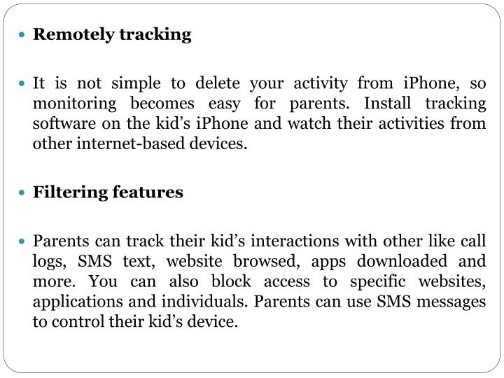 Remotely tracking