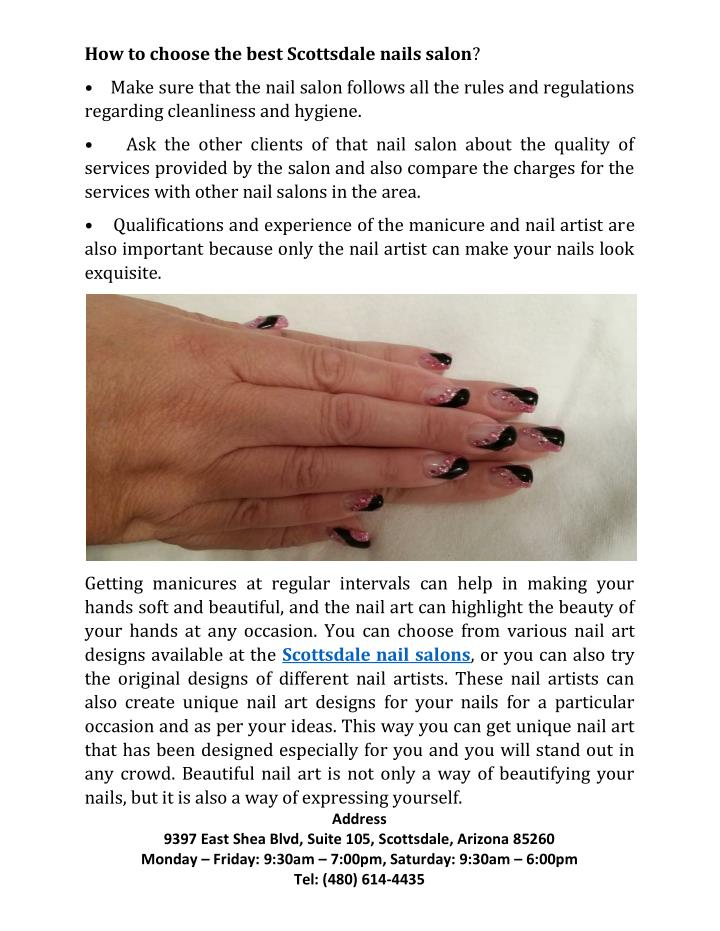 How to choose the best Scottsdale nails salon