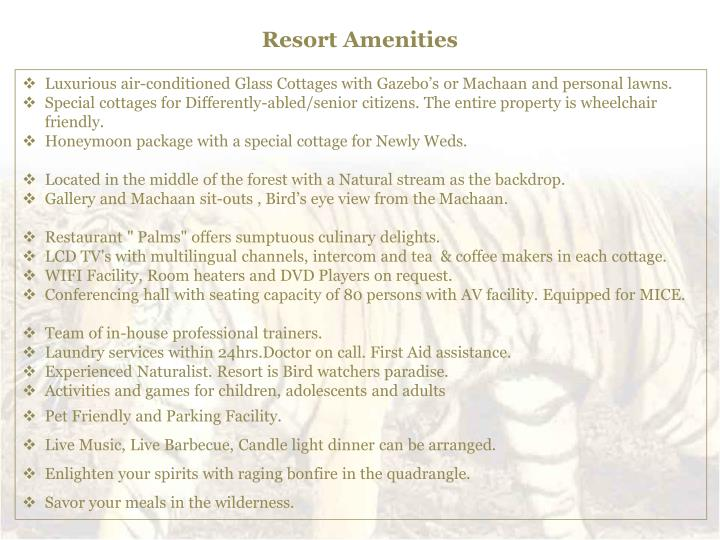 Resort Amenities