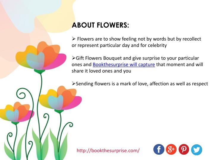 ABOUT FLOWERS: