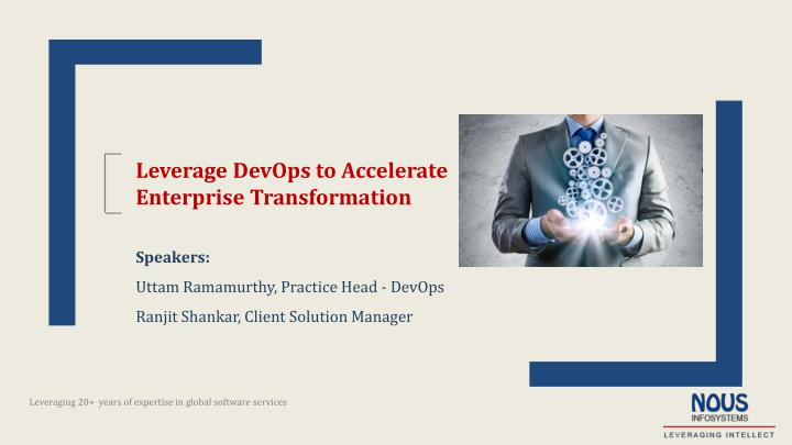 Leverage DevOps to Accelerate