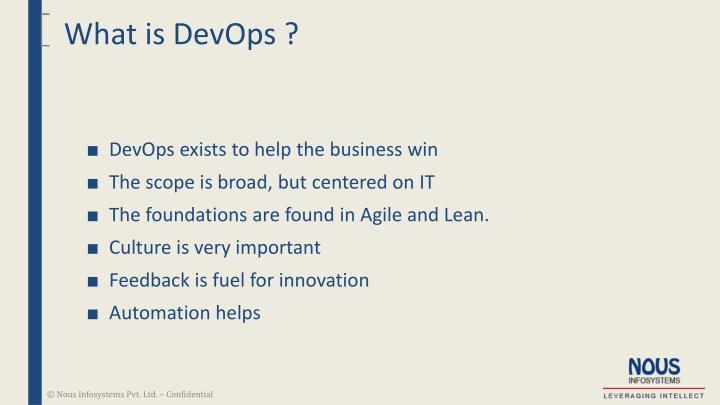What is DevOps ?
