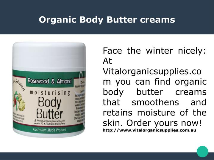 Organic Body Butter creams