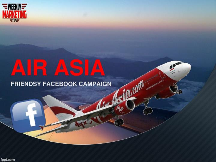 air asia friendsy facebook campaign