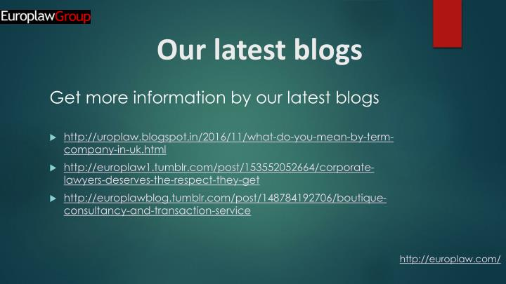 Our latest blogs