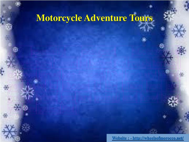 Motorcycle Adventure Tours