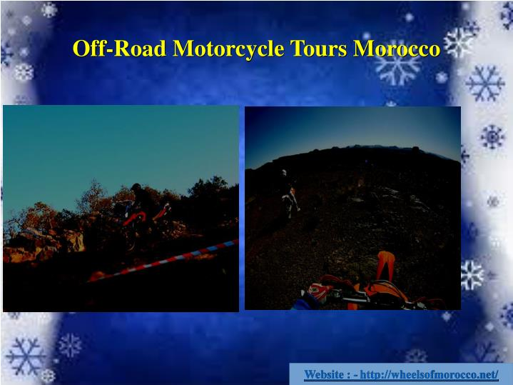 Off-Road Motorcycle Tours Morocco